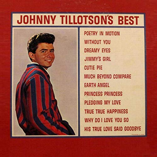 This is Johnny Tillotson's very first compilation album released in 1962. The price...$3.98.