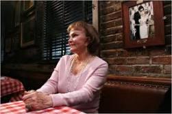 Maria Elena Santiago at table 53, PJ Clarke's in New York, June 20, 1958
