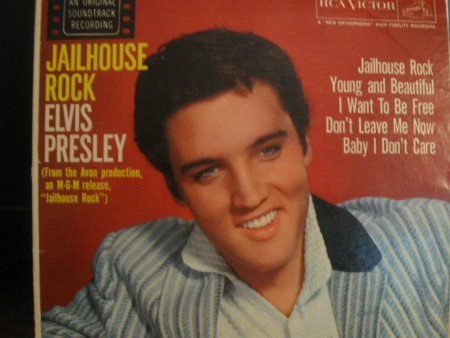 An original 1957 Elvis EP (extended play) 45rpm record.