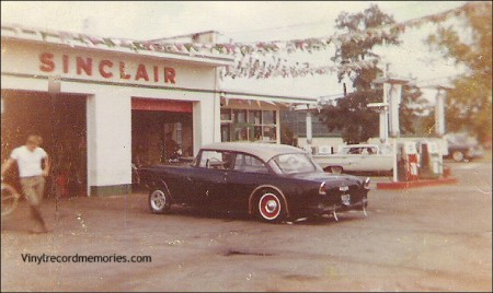 My good friend Doug Bippus, standing next to the Buddy Mullins '55 Chevy drag car in Hamilton, Ohio 1963. Destination, Edgewater dragstrip, Cleves, Ohio.