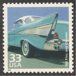 1999 postage stamp of 1957 Chevrolet.