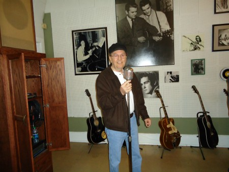 My friend, Bill Moore at Sun Studios in 2015.