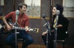 Glen Campbell and Bobbie Gentry in a dreamy duet rehearsal.