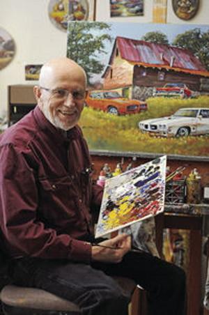 Dale Klee at his studio in Wyoming, MN.