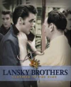 Elvis and Bernard Lansky, 1956.