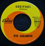 Sukiyaki 45rpm record #1 song in 1963.