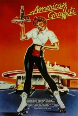 American Graffiti Movie 1960s Backdrop Of Hot Rods