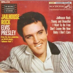 My original 1957 Jailhouse Rock EP (extended play) 45rpm record.