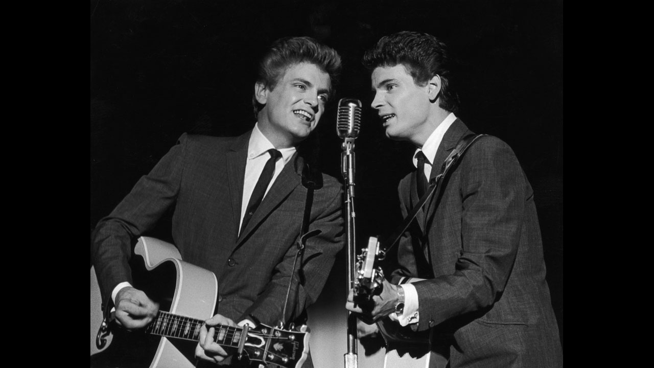 The Everly Brothers and their song Walk Right Back at vinyl record memories.