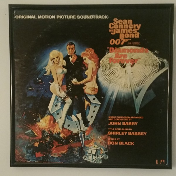 Click to Expand - Diamonds are Forever album cover art from 1971 at vinyl record memories.