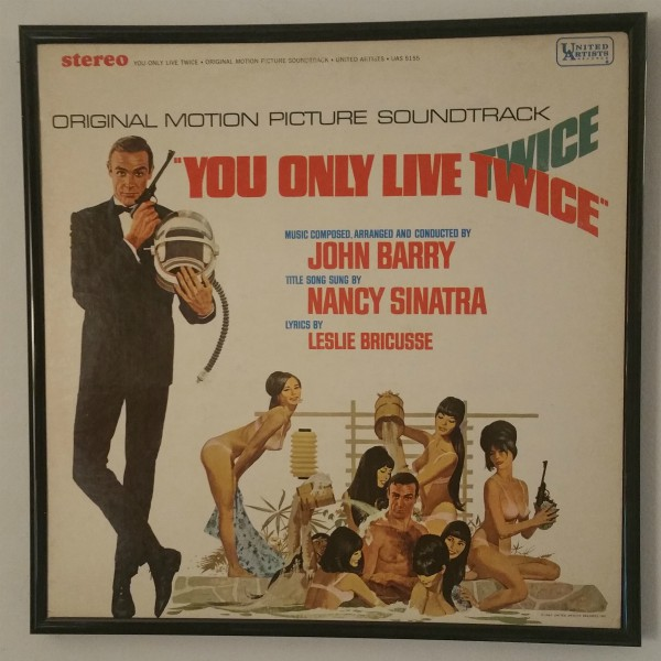 Click to expand - You Only Live Twice album cover art from 1967 at vinyl record memories.
