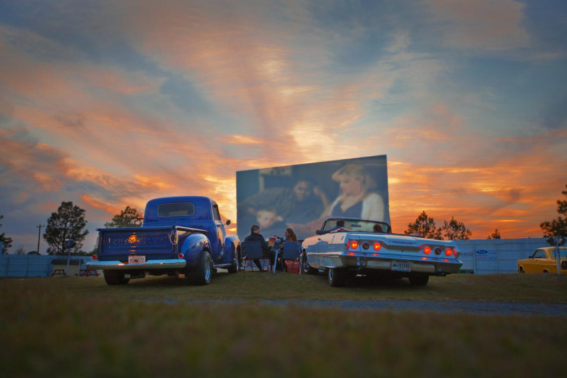Jesup Drive-In has been servicing guests on the Georgia coast since 1948. 1950's dressed car hops set the tone for a - good ol' days - family nite of entertainment.