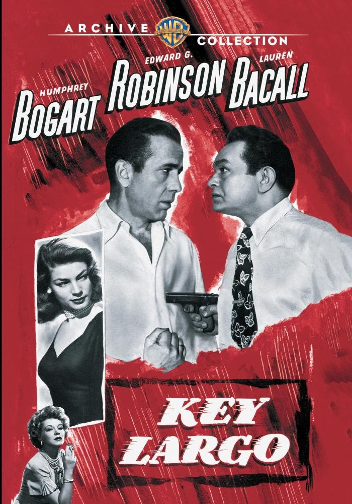 Movie Poster for the 1948 movie, Key Largo. Read the story at vinylrecordmemories.com