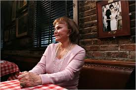 Maria Elena Santiago at table 53, PJ Clarke's in New York, June 20, 1958