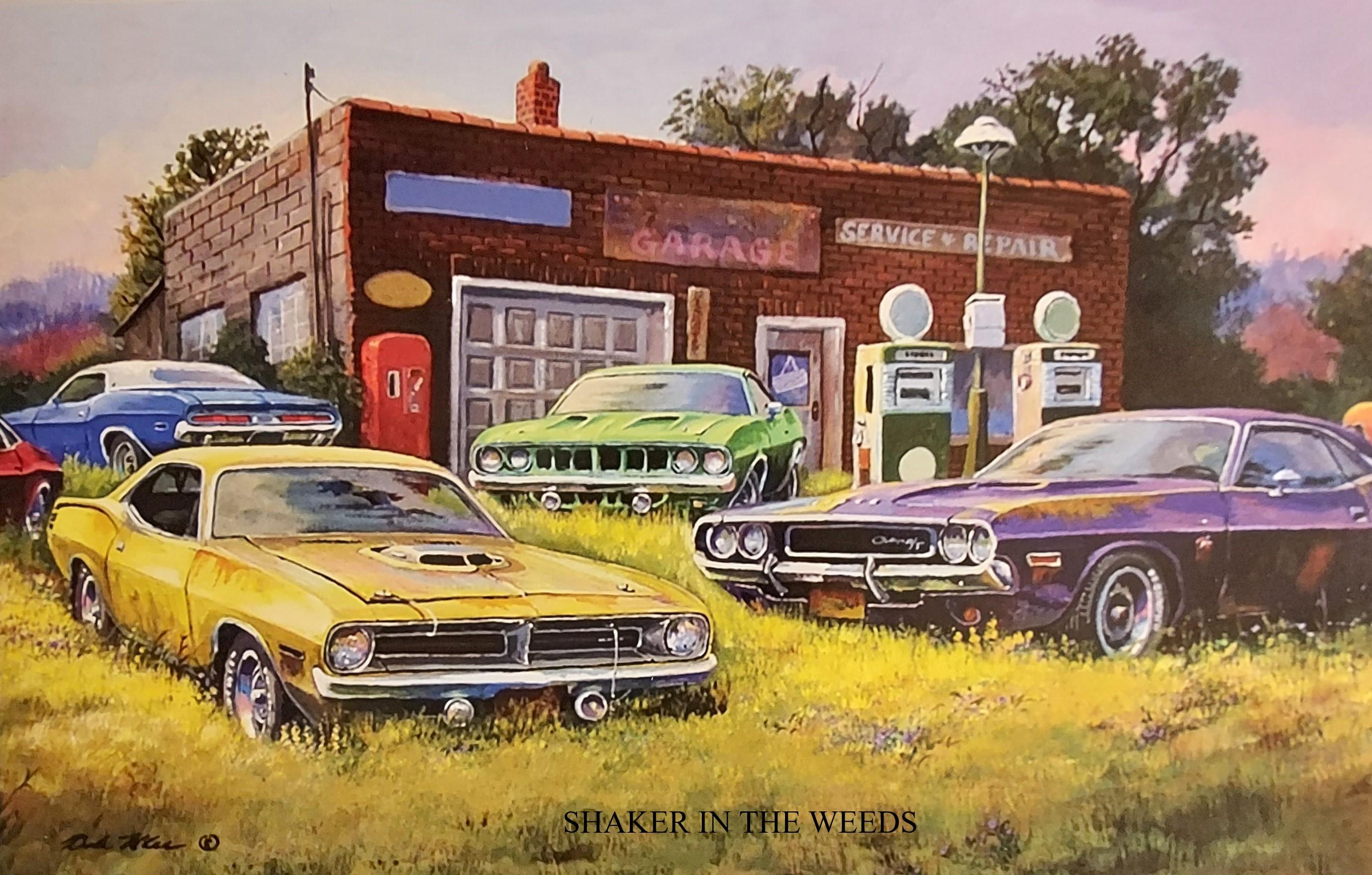Dale Klee Old Car Art at vinyl record memories.com
