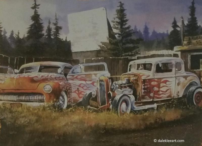 Dale Klee Automotive Art at vinyl record memories.