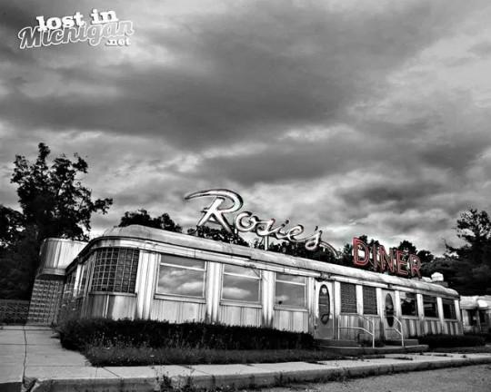 The original Rosie's diner photo courtesy of Lost In Michigan.net.