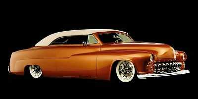 1951 Mercury classic lead sled with chopped top.