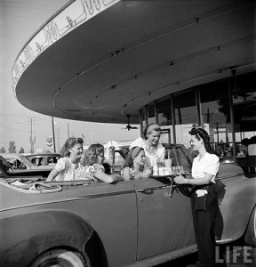 The favorite teen hang-out, a 50's original drive-in restaurant.