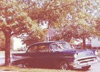 Photo of my 1957 Chevy as it appeared in front of our home in Hamilton, Ohio in 1962.