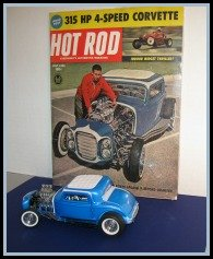 The 1961 Hot Rod magazine and the original Danbury Mint '32 Ford adult collectible.