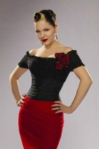 Rockabilly girl Imelda May at All About Vinyl Records.