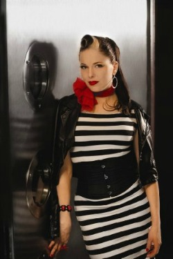 Imelda May Rockabilly lyrics to Train Kept a Rollin at All About Vinyl Records.