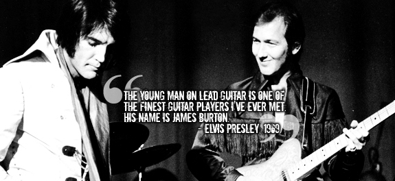 James Burton Lead Guitarist For Ricky Nelson And Elvis