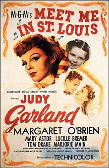 The only girl on the trolley without a hat was Judy Garland.