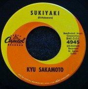 Sukiyaki 45rpm record #1 song in 1963.