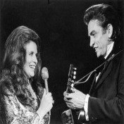 Johnny and June Carter Cash perform their hit song Jackson.