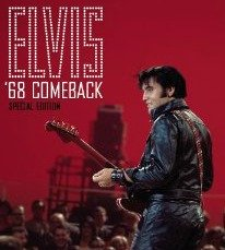 Elvis dressed in Leather '68 Comeback Special