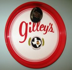 Copyright My personal Gilley Serving Tray and Lone Star Belt Buckle from the Nightclub in Pasadena, Texas.