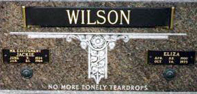 No More Lonely Teardrops - Final resting place of Jackie Wilson.