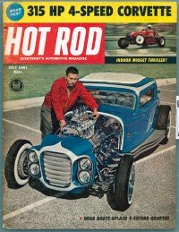 An original copy of the July 1961 Hot Rod Magazine viewed on Vinyl Record Memories.