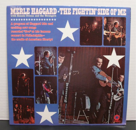 Merle Haggard Fightin' Side of Me, from 1970. Read the story at vinyl record memories.com.